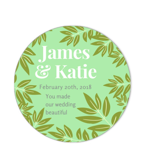 Leaves of Spring Green Sentiment Sticker