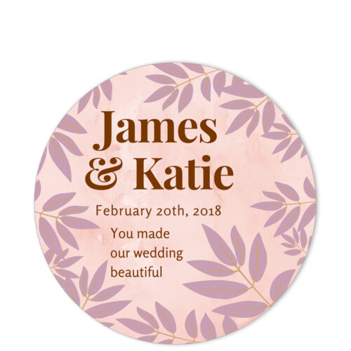 Leaves of Spring Pink Sentiment Sticker