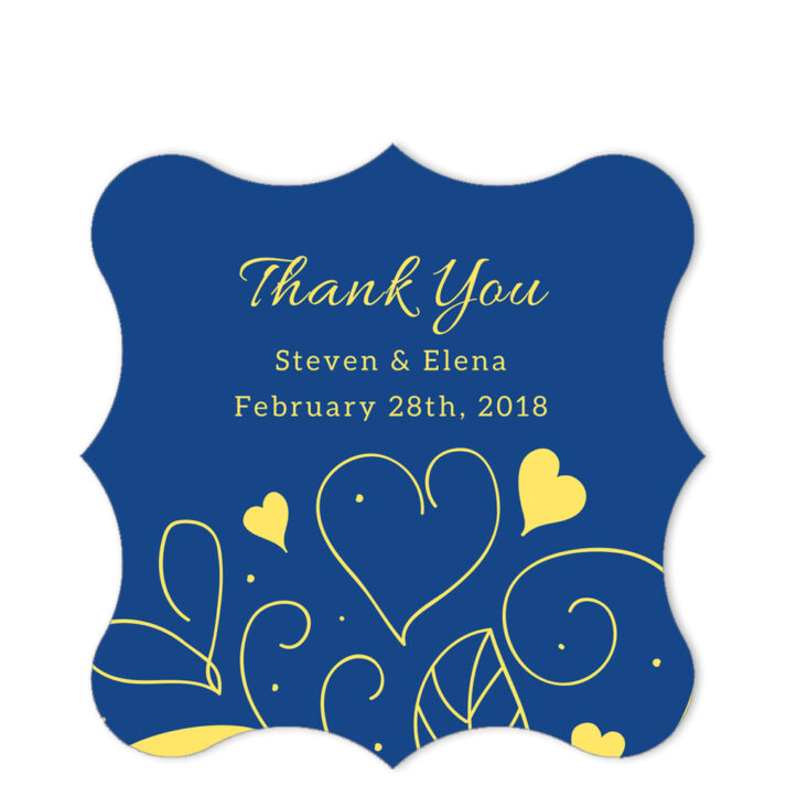 Country Summer Blue Thank You Sticker