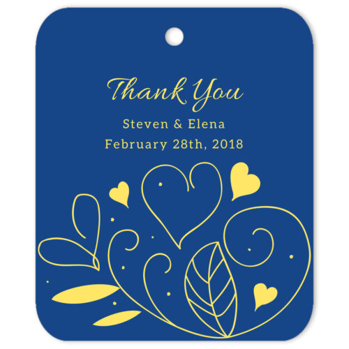 Country Summer Blue Thank You Gift Tag