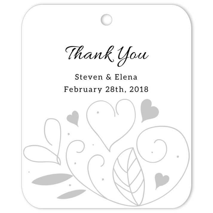 Country Summer White Thank You Gift Tag