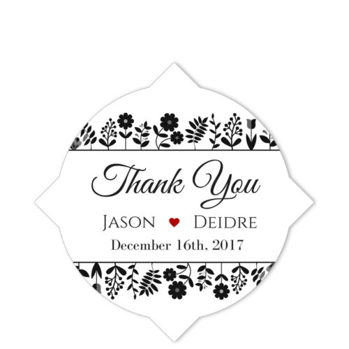 Flower Beds Thank You Sticker