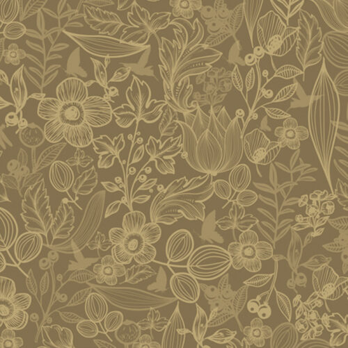 Golden Garden Gift Wrapping Paper