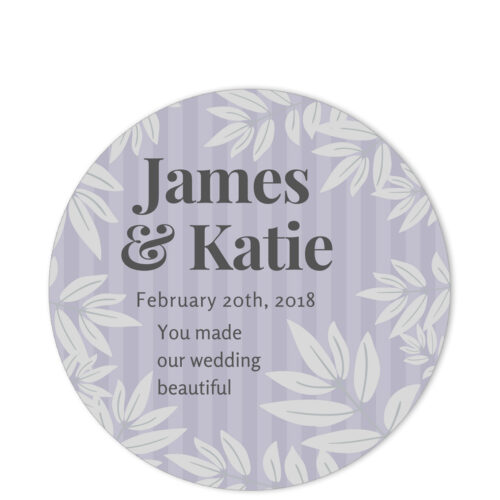 Leaves of Spring Grey Sentiment Sticker