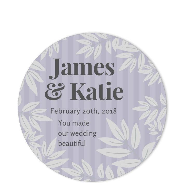 Leaves of Spring Grey Sentiment Sticker