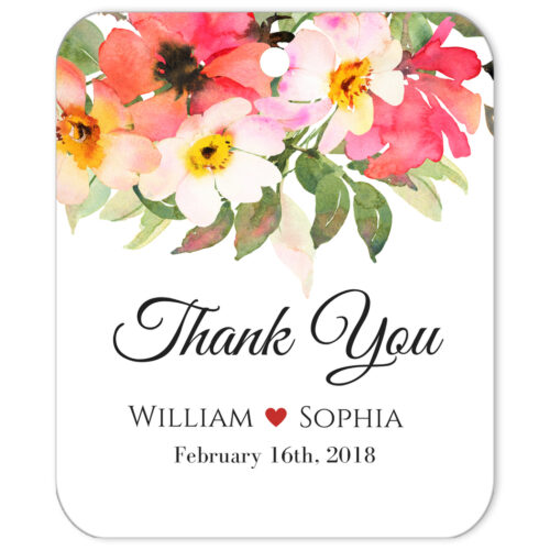 Thank You Bouquet Top Gift Tag