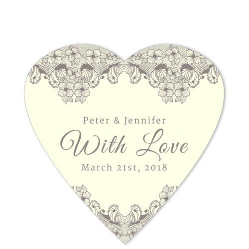 Lace Border With Love Brown Sticker