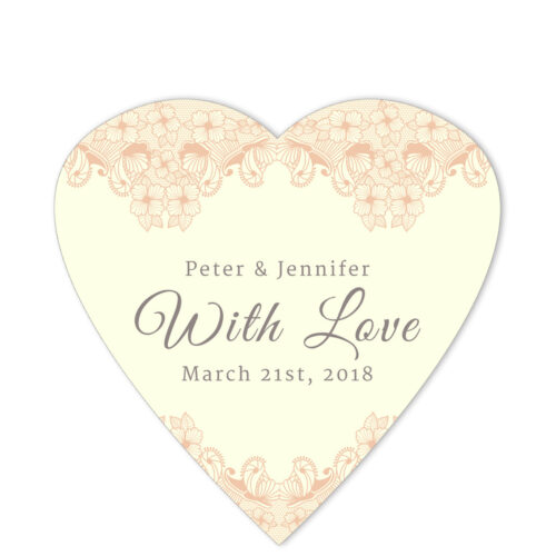 Lace Border With Love Peach Sticker