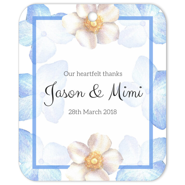 Periwinkle Blue Cascade Gift Tag