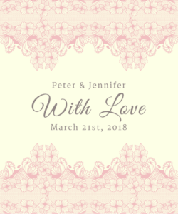 Lace Border With Love Pink Favor Tag