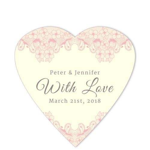Lace Border With Love Pink Sticker