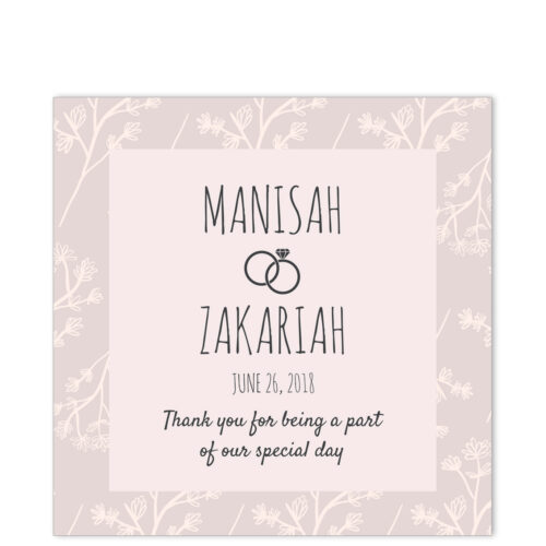 Elegant Flowers Thank You Sticker
