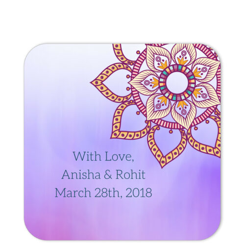 Ethnic Indian Flower Mandala With Love Sticker