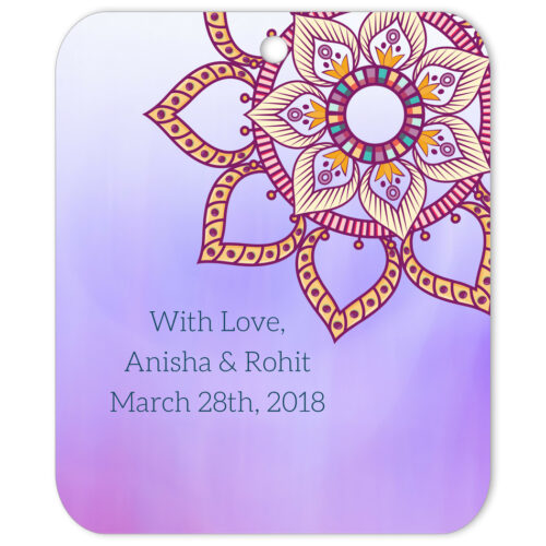 Ethnic Indian Flower Mandala With Love Favor Tag