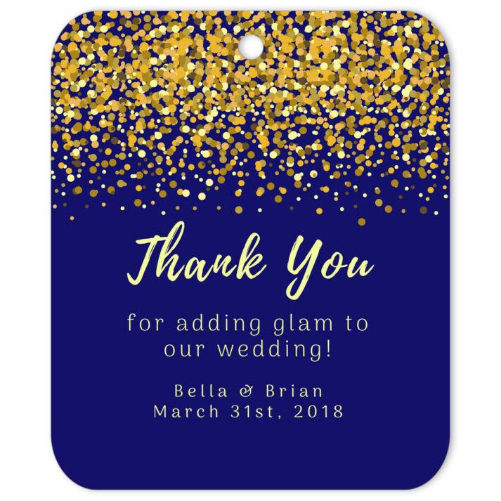 Glamorous Confetti Gift Tag