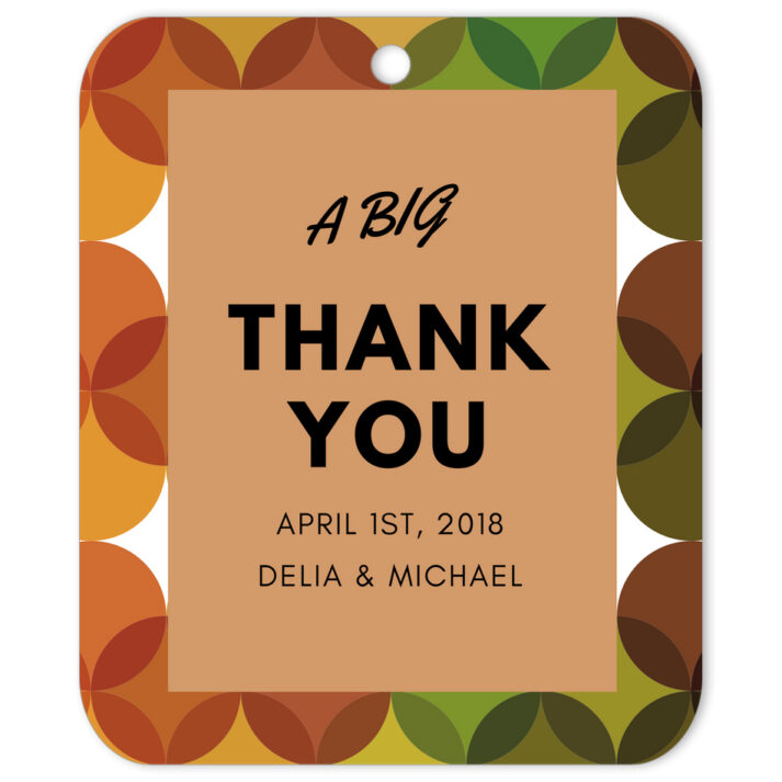 Retro Thank You Favor Tag