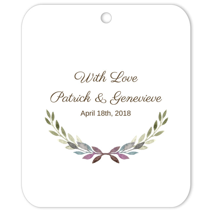 Grecian With Love Favor Tag