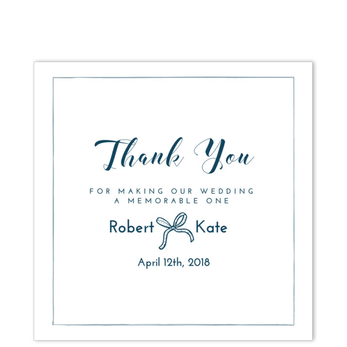 Luxury White Square Thank You Sticker