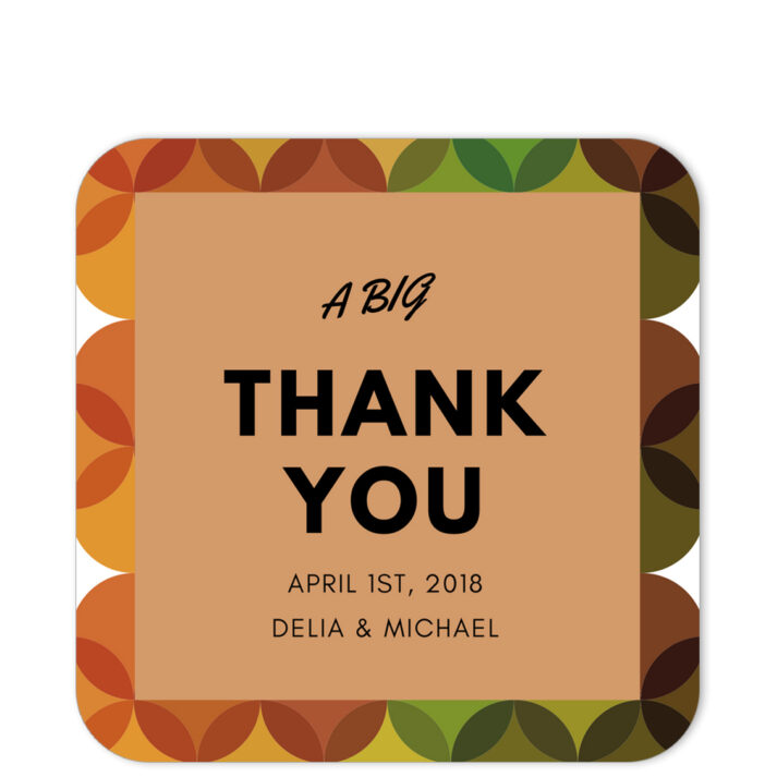 Retro Thank You Sticker