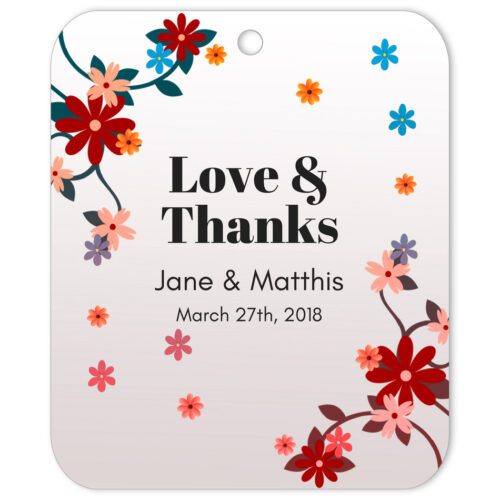 Windy Blooms Love & Thanks Favor Tag
