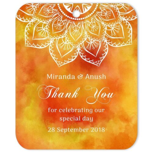 SAF-MAN-TAG-1 Saffron Mandala Thank You Tag