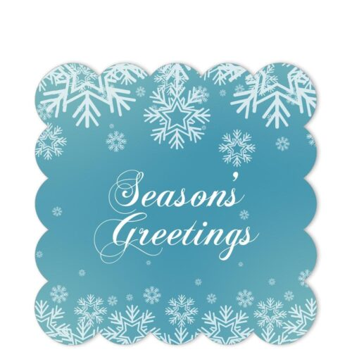 WSG-SGT-1 White Snowflake Seasons' Greetings Sticker