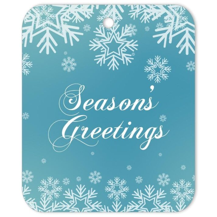 WSG-SGT-TAG-1 White Snowflake Seasons' Greetings