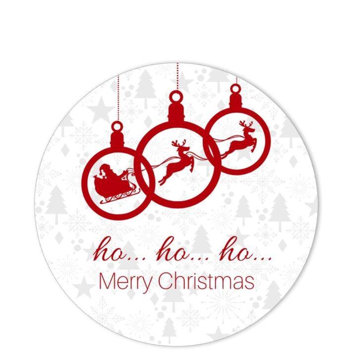 HOH-SAN-1 HoHo Santa Sticker