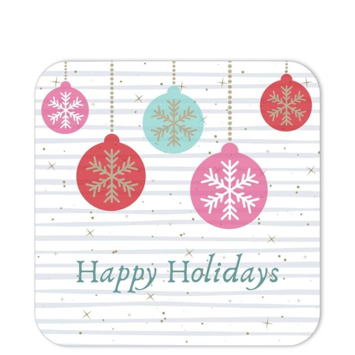 RGP-HHB-1 Happy Holiday Snowflake Baubles Sticker