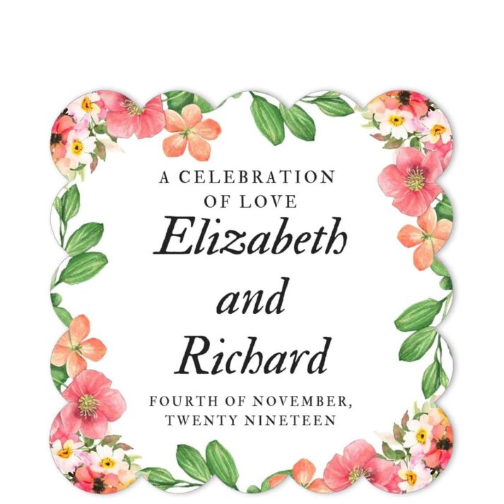 PER-SPR-1 Perpetual Spring Wedding Sticker