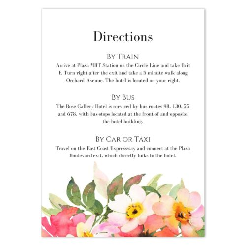BOU-TOP-INV-1 Romantic Bouquet Invitation - Back