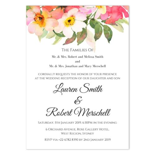 BOU-TOP-INV-1 Romantic Bouquet Invitation