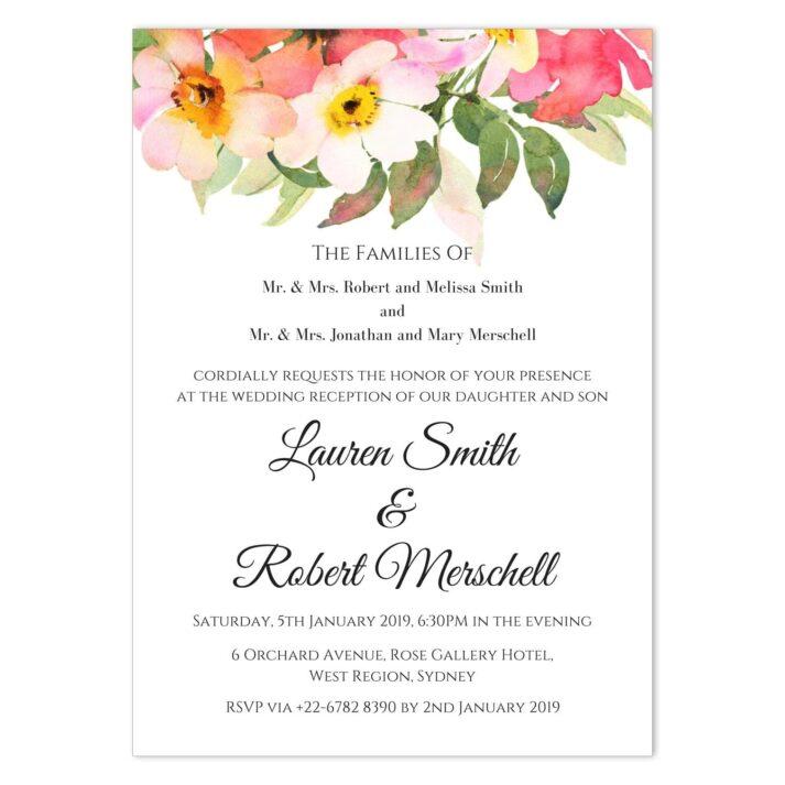 BOU-TOP-INV-1 Romantic Bouquet Invitation