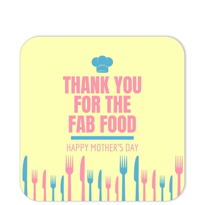 FAF-MOD-1 Fab Food Celebration Sticker