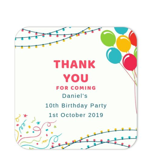 BLB-CEL-1 Birthday Lights and Balloons Sticker