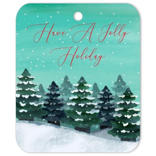 Jolly Holiday Gift Tag