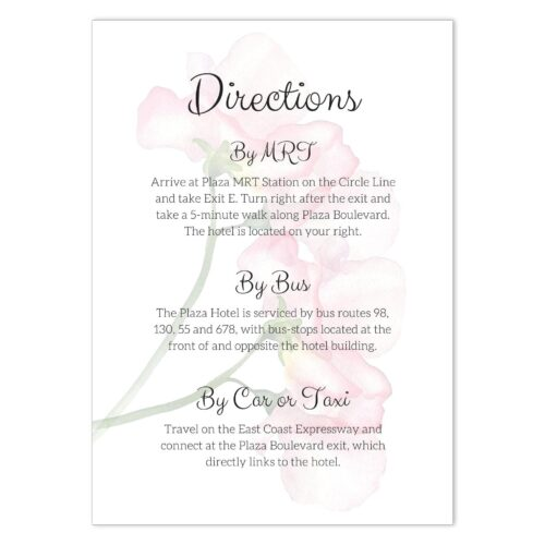VBR-ROS-INV-1 Vintage Briar Rose Clutch Wedding Invitation