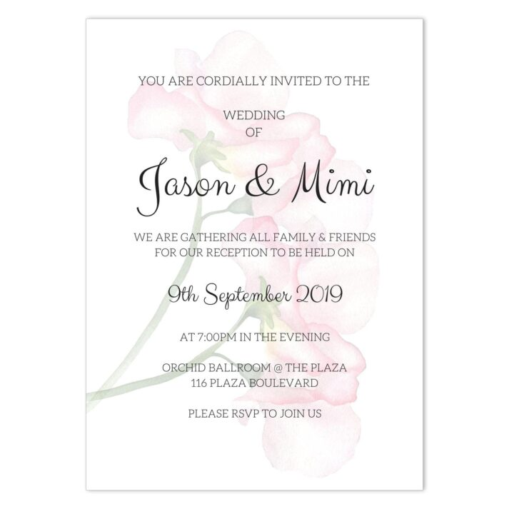 VBR-ROS-INV-1 Vintage Briar Rose Clutch Wedding Invitation