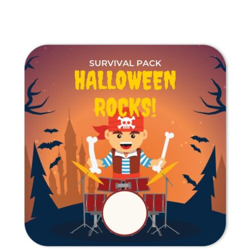 PIR-HAL-1 Pirate Drummer Halloween Sticker