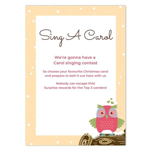 OWL-LOG-INV-1 Owl Winter Log Invitation