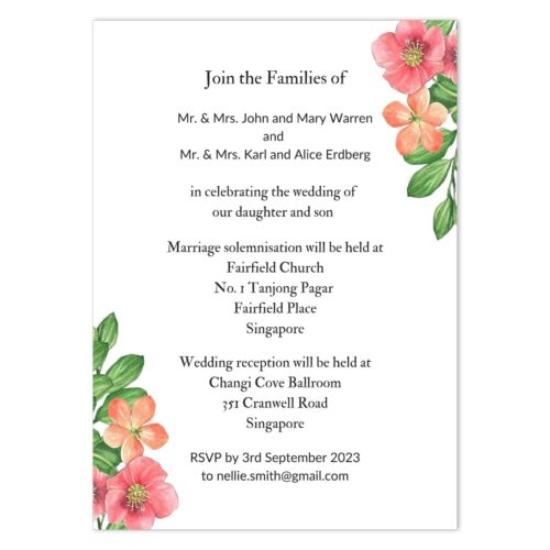PER-SPR-INV-1 Perpetual Spring Wedding Invitation