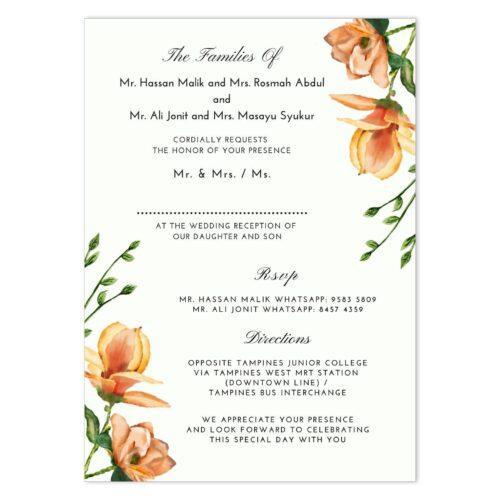 MAG-NOL-INV-1 Magnolia Invitation