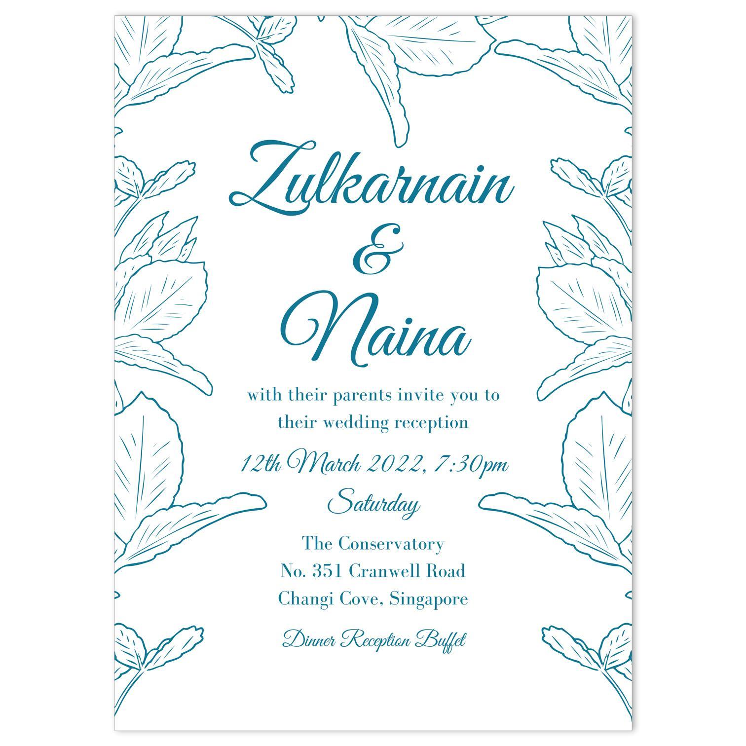 Wedding Invitation Leaf Crown Wedding Invitation Cards Gift Elements Sg