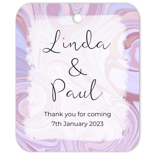 SWI-PNK-TAG-1 Swirl Favor Gift Tag