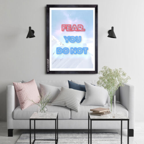 FNT-LGT-ART-1 Fear Not Light Wall Art