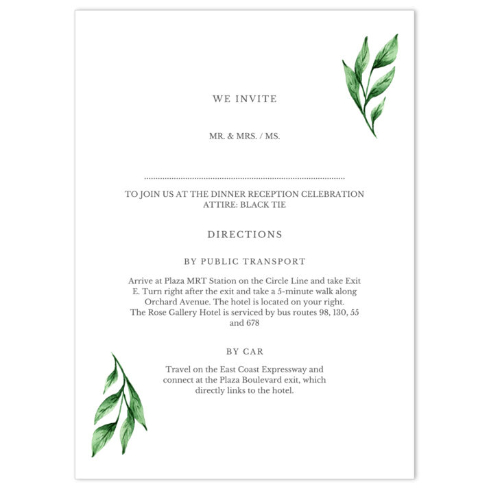 HFR-MOD-INV-1 Herby Frame Wedding Invitation Card