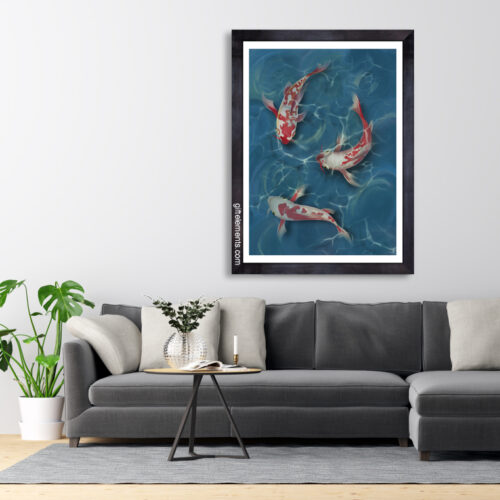 THR-KOI-ART-1 Three Koi Wall Art