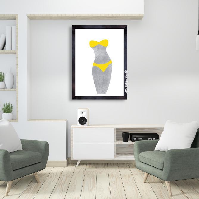 UNC-BIK-ART-1 Uncover Bikini Wall Art