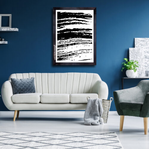 FLU-STR-ART-1 Fluffy Streaks Wall Art