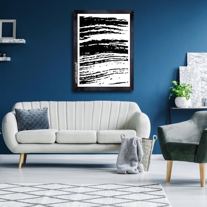 FLU-STR-ART-1 Fluffy Streaks Wall Art